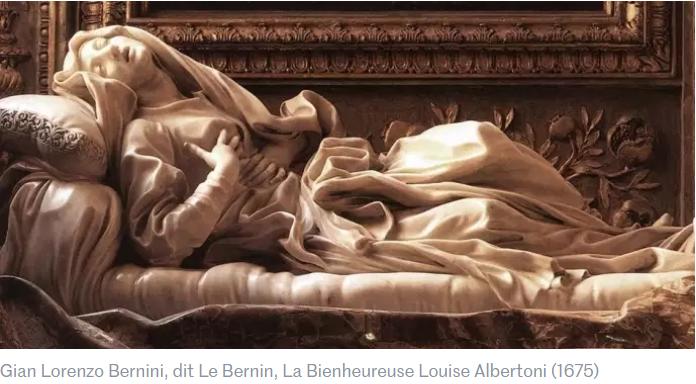 Sculpture le Bernin Louise Albertoni